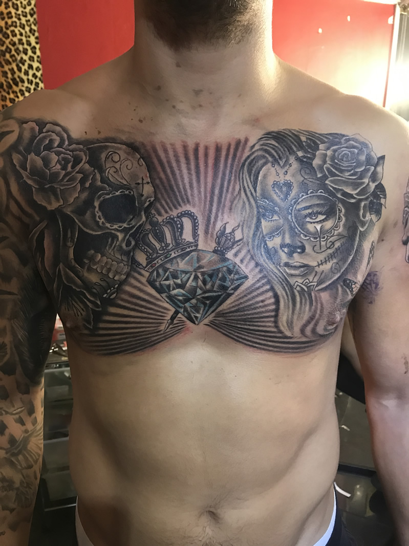 Chestpiece in progress